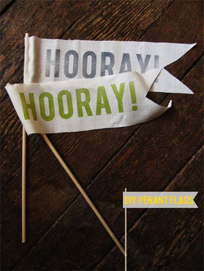 Squirrelly Minds » DIY Hooray Flags: Diy Hooray, Squirrelli Mind, Hooray Flags, Cute Ideas, Diycraft Ideas, Crafty Thang, Parties Ideas, Diy Wedding Flags, Crafty Ideas