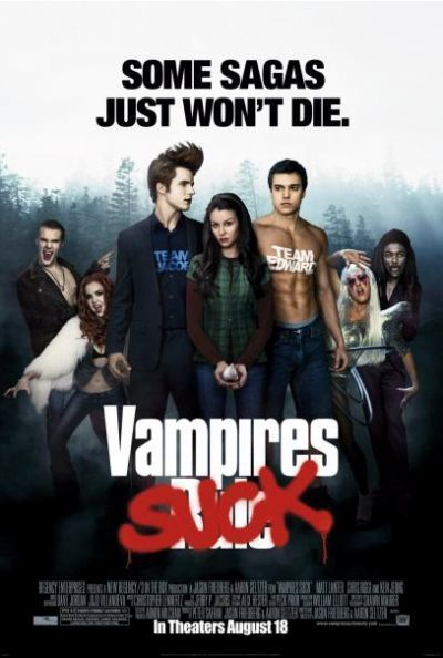 Vampires Suck - I am a Twilight fan, but this movie is funny!  Matt Lanter does a comical impersonation of Edward Cullen.