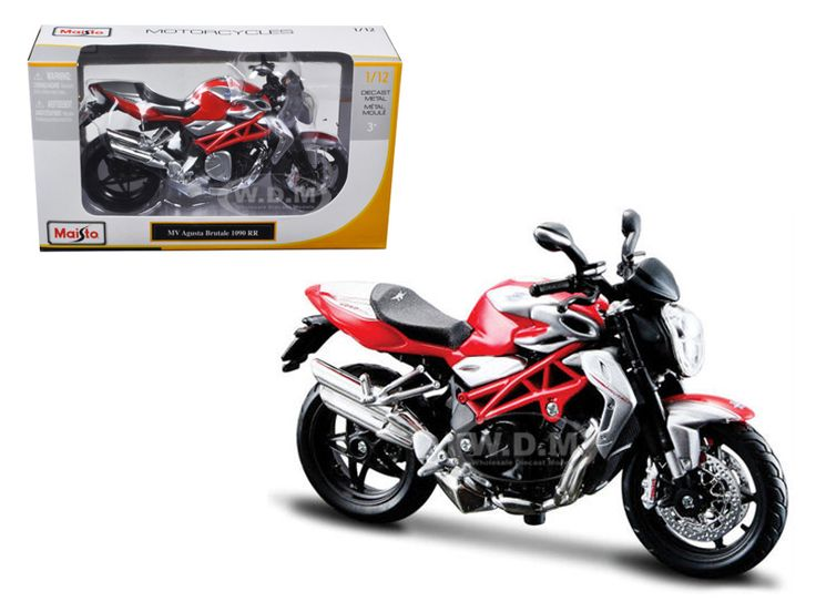 diecastmodelswholesale - 2012 MV Agusta Brutale 1090 RR Red/Silver 1/12 Motorcycle by Maisto, $10.49 (http://www.diecastmodelswholesale.com/2012-mv-agusta-brutale-1090-rr-red-silver-1-12-motorcycle-by-maisto/)