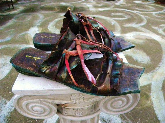 Mykonos 2 Hand-made Leather Sandal  Greek by GreekSandalsMelahris