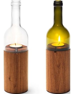 And then would make the top of those glass bottles into these