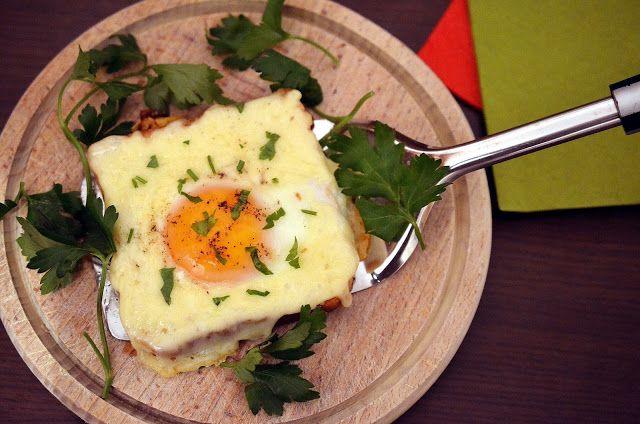 Frământări la cuptor: Sandvis cu ou si cascaval