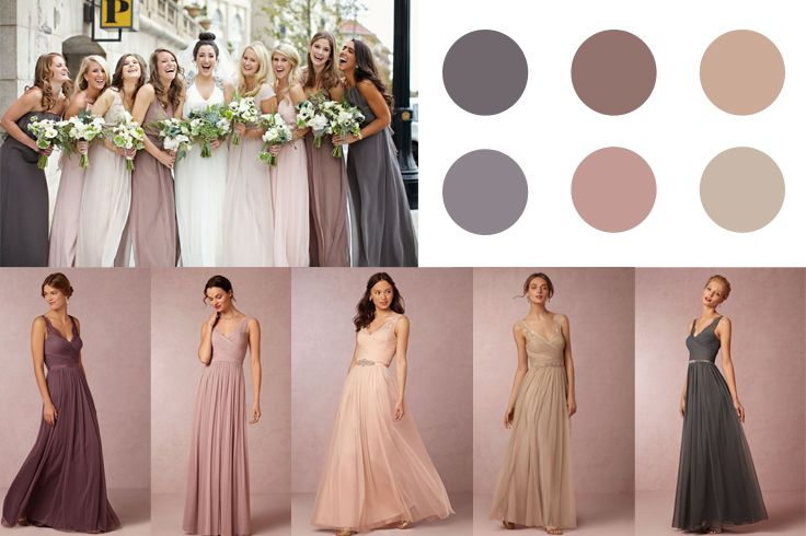 This my favorite palette of neutrals and earth tone colors!! Thoughts??? (not necessarily these dresses... but these colors)
