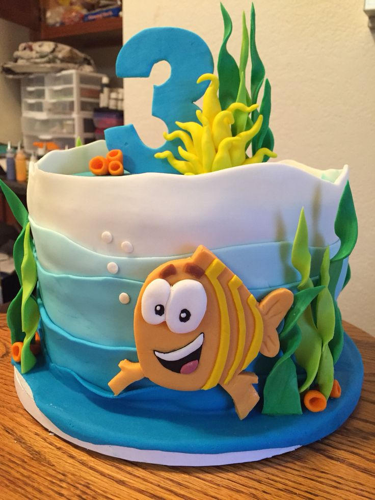 Love this, but would need more pink/purple...Bubble Guppies Cake for three year old boy. | Courtney's Confections |