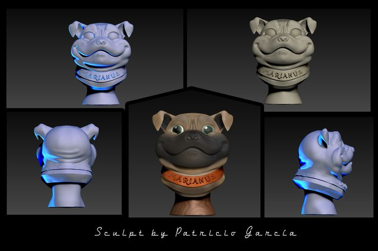 this is a little pug made in zbrush