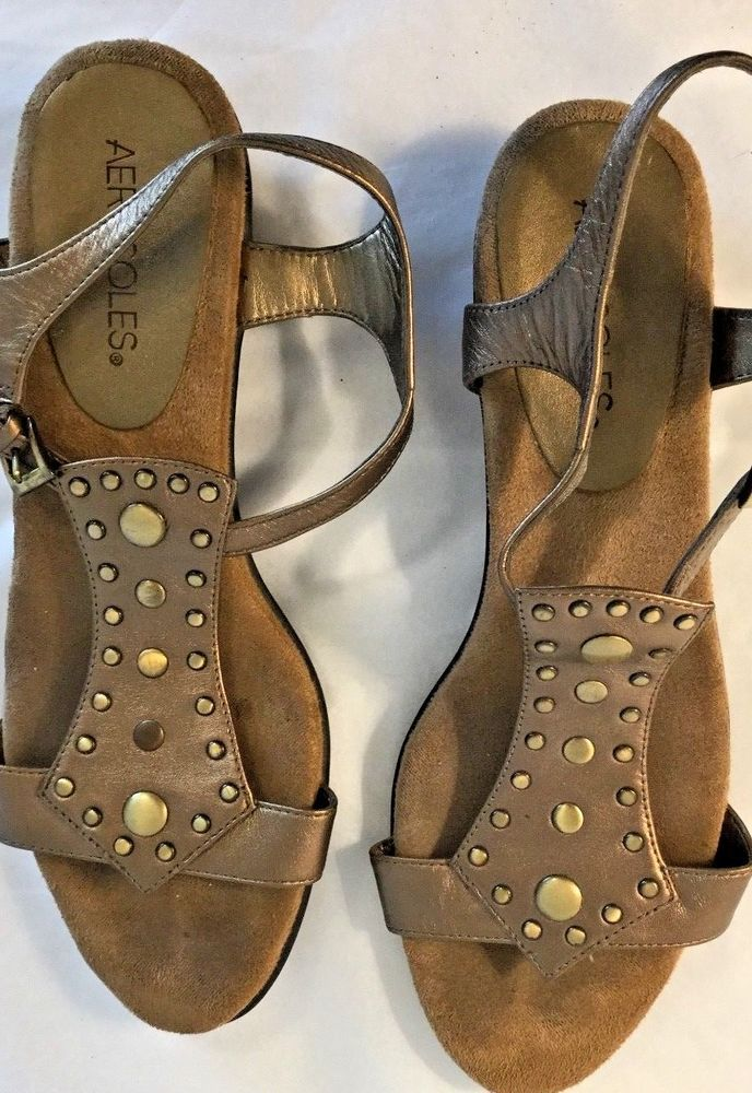 143ee623477 Aerosoles Womens T-StrapAnkleLeather Sandals. Size 8.5 M Bronze 1123   fashion  clothing  shoes  accessories  womensshoes  sandals (ebay link)