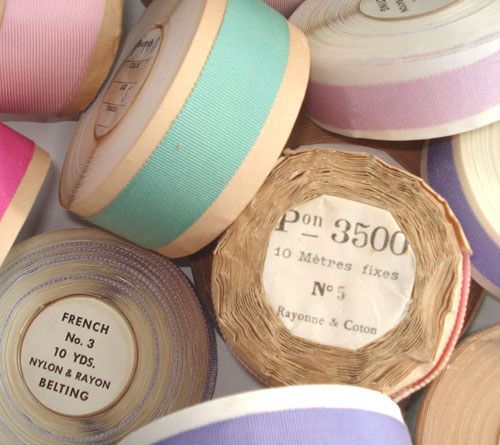 Vintage french ribbon rolls -- so pretty.