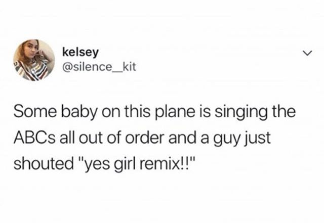 It's the new abc remix  created by baby on the plane