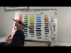 [수채화의 기초] 내가 원하는 색깔은 어떻게 만들까? 색감 만드는 방법 - YouTube