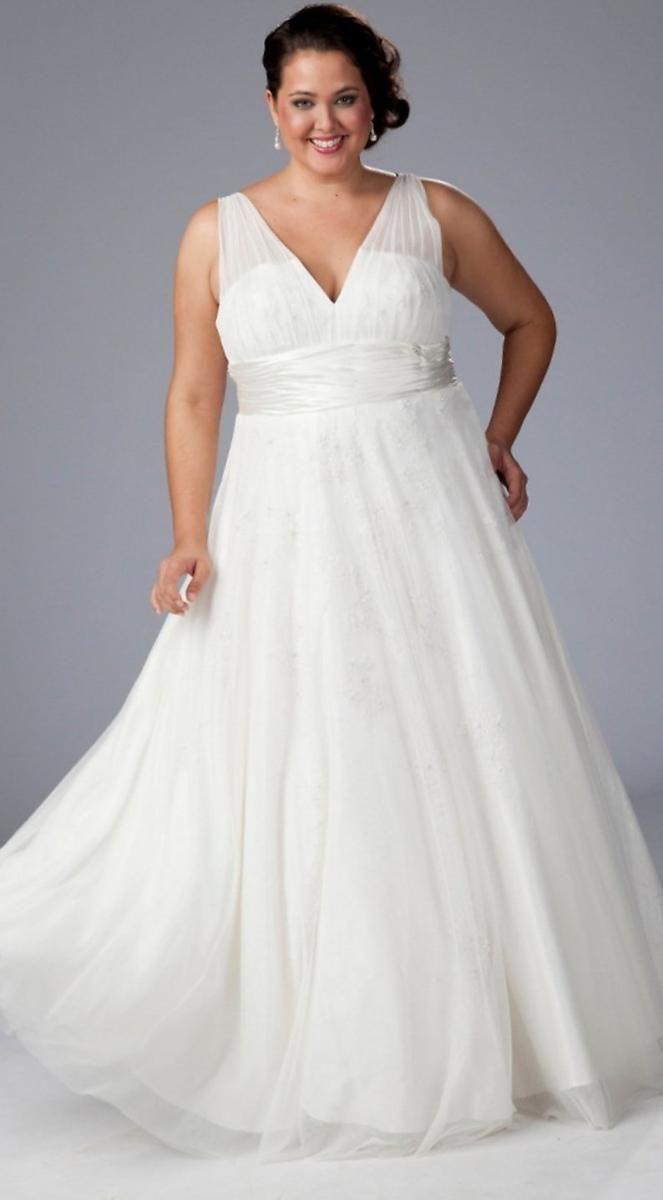 Свадебное платье на полную фигуру - http://1svadebnoeplate.ru/svadebnoe-plate-na-polnuju-figuru-3146/ #свадьба #платье #свадебноеплатье #торжество #невеста