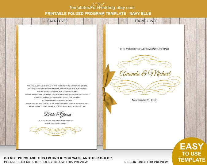 17 Best Ideas About Wedding Ceremony Booklet Templates On Pinterest