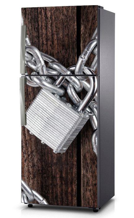 Naklejka na lodówkę - Zamknięte na kłódkę