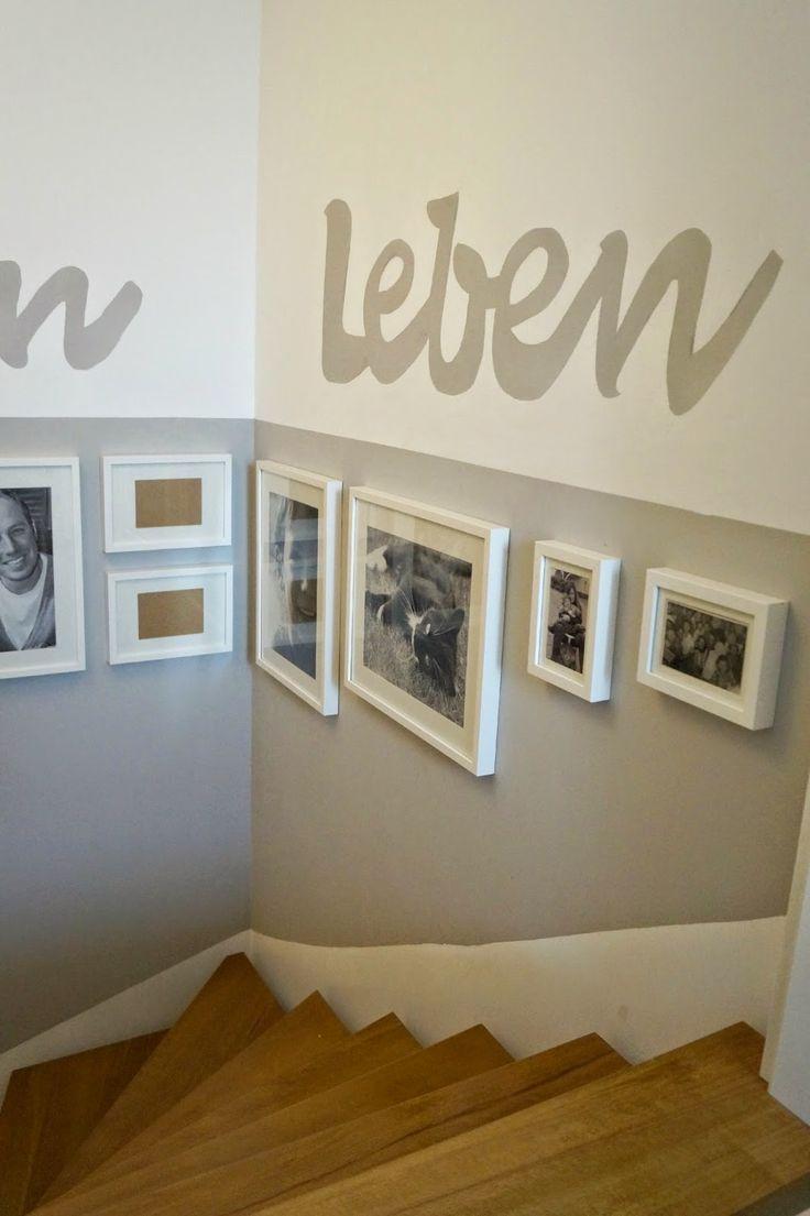 Zimmer string leuchtet ideen treppenhaus  staircase makeover  ideen rund ums haus  pinterest