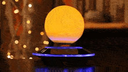 Floating Moon Lamp Magnetic Levitation via /r/HighQualityGifs... IFTTT Tumblr