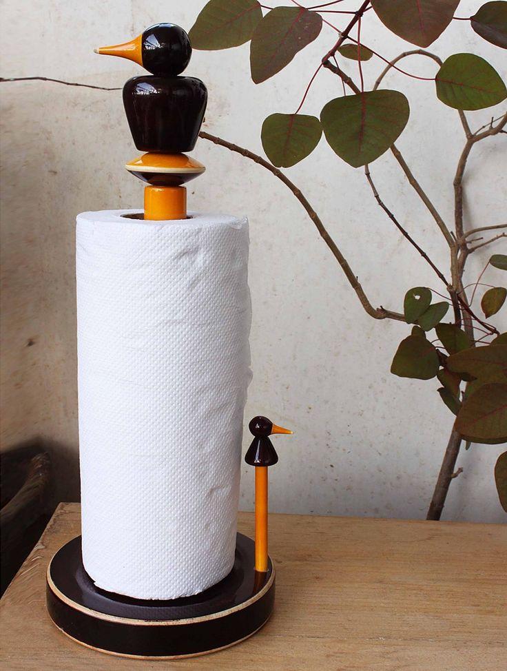 "kuruvi paper towel dispenser from ""Channapatna Stories"""