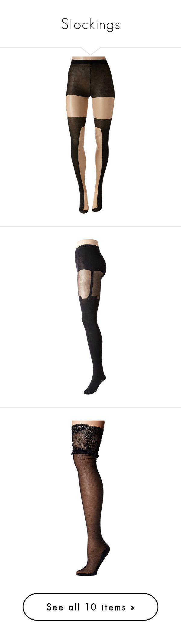 """""""Stockings"""" by forevercharmed ❤ liked on Polyvore featuring intimates, hosiery, tights, neutral, thigh high stockings, thigh high nylon stockings, nylon stockings, opaque thigh high stockings, nude pantyhose and sheer tights"""