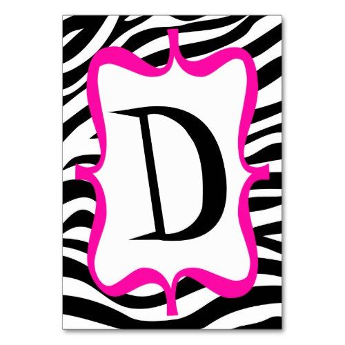 zebra print pink happy birthday banner table number in 2018 girly