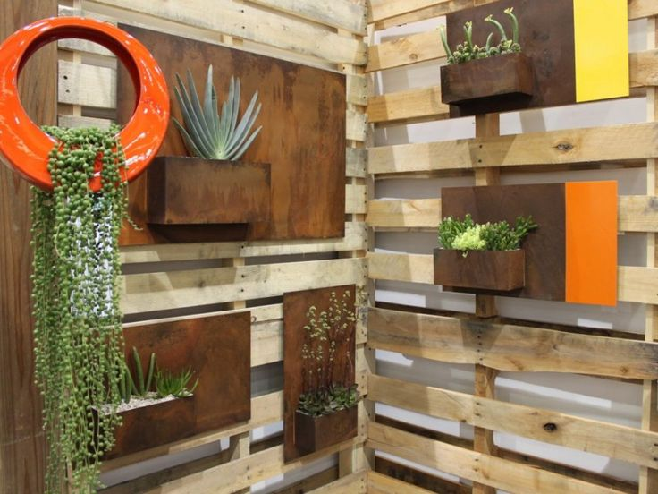 Decor:45 Natural Nice Design Modern Outdoor Wall Art Combined With Some  Plants On The Part 85