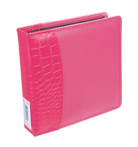 """Item # 9934243 Pink 2-Ring Album. Richly Padded cover with textured alligator spine. Holds up to 25 Ultra PRO 2-Ring 4"""" x 6"""" Photo or CD Pages (sold separately). Available Only at your Local Walmart Photo Center! Available in Red, Pink, and Black."""