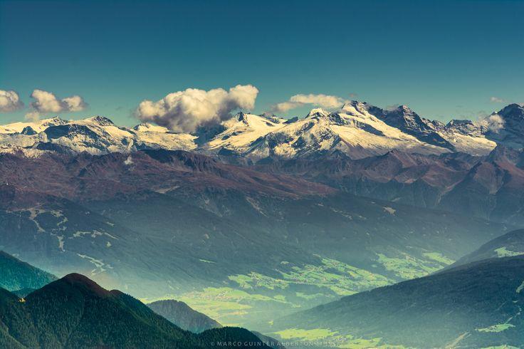 Fog in Garmisch-Partenkirchen - This stunning scenario was taken from the top of Zugspitze, the tallest mountain in Germany, border with Austria.