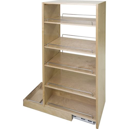 Pantry cabinet pull out roll out pantry insert real wood - Roll out shelving for pantry ...