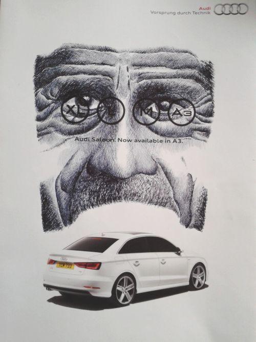 Biro on Audi catalogue
