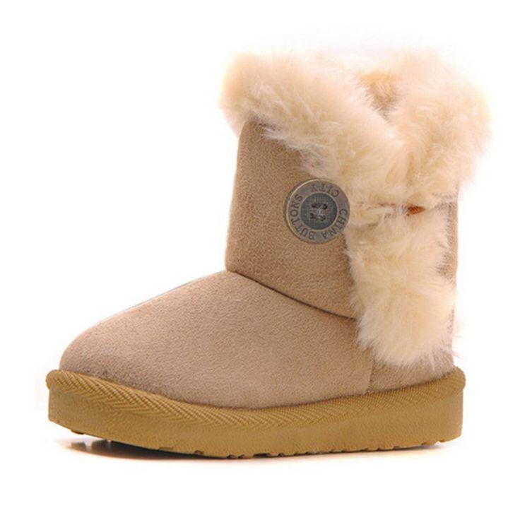 Новые Мальчики Девочки Снег Сапоги Зимние Ботильоны Для Детей Замшевые Туфли теплый Пхг Загрузки Ребенок Мода Тапки Малыш Обувь для детей Девочек #hats, #watches, #belts, #fashion, #style