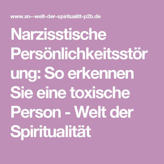 Eine narzisstische Person