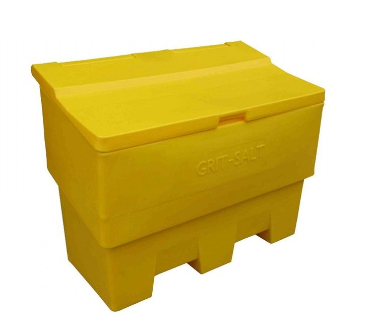 This 6 Cu Ft 169 Litre Grit Salt Bin Is Manufactured From Durable UV  Resistant Polyethylene