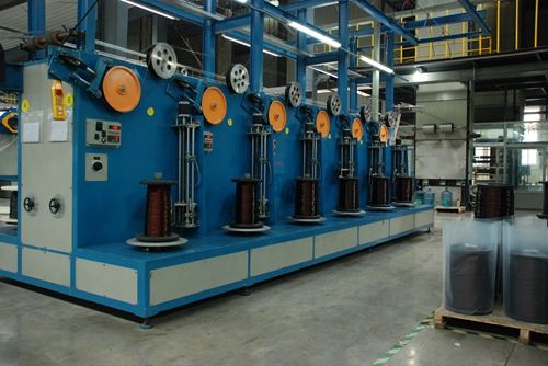 production machine of enameled round aluminum wire which exported from other countried.