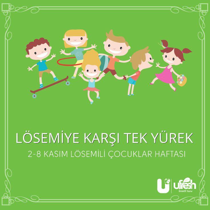 """Lösemi, tedavisi mümkün olan bir hastalıktır.   02-08 Kasım, Lösemili Çocuklar """"Farkındalık"""" Haftası"""