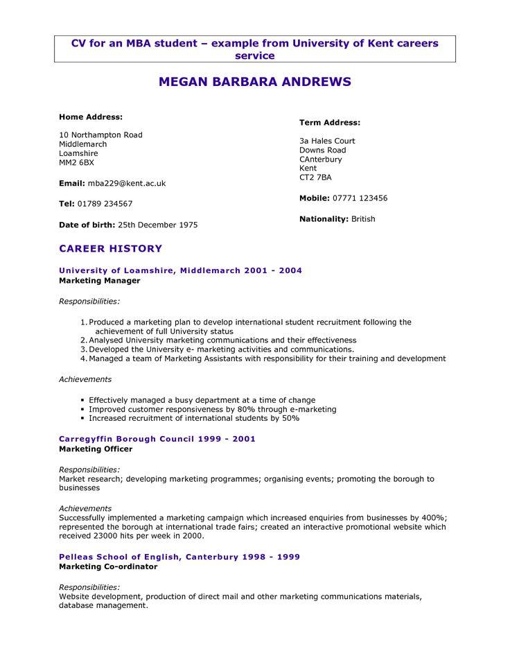 Cv For Students   actltk - formato de resume