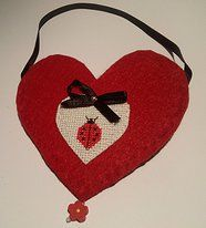 Bolsa Coração com Joaninha - 4,00€