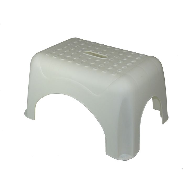 1-Step Plastic Step Stool with 225 lb. Load Capacity