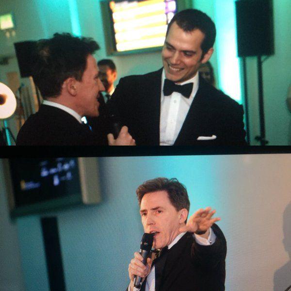 @RobBrydon entertains the guests, including Henry Cavill, at our Film Gala @BAFTA195 #EEBAFTAs