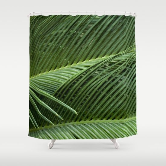 Customize your bathroom decor with unique shower curtains designed by artists around the world. Made from 100% polyester our designer shower curtains are printed in the USA and feature a 12 button-hole top for simple hanging. The easy care material allows for machine wash and dry maintenance. Curtain rod, shower curtain liner and hooks not included. Dimensions are 71in. by 74in.  #palm, #palmleaves, #leaves, #nature, #tropical, #photography, #curtain   , #showercurtain