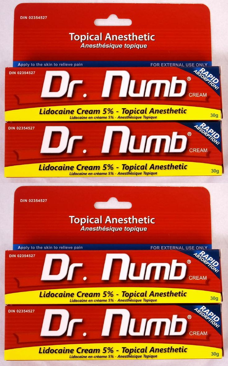 Tattoo Supplies: Dr Numb 5% Lidocaine Cream 30 Gr - 2 Tubes 2X Skin Numbing Tattoo/Removal New BUY IT NOW ONLY: $59.94