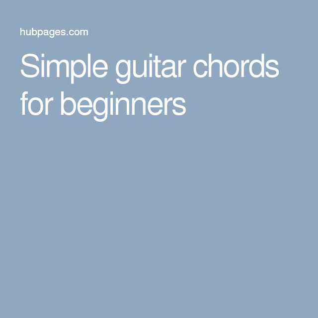 Simple guitar chords for beginners