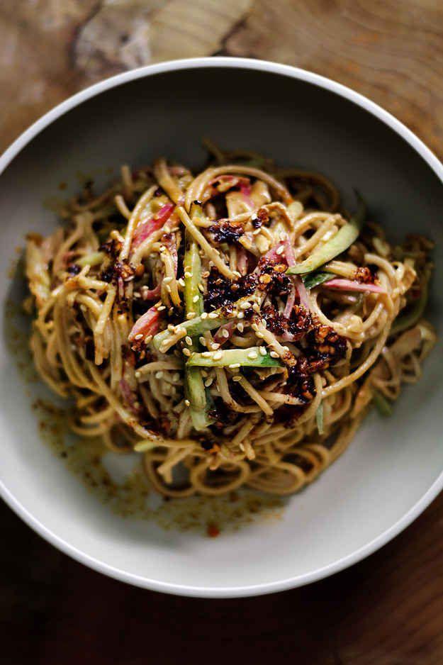 Noodles de sésamo fríos (Liang mian)