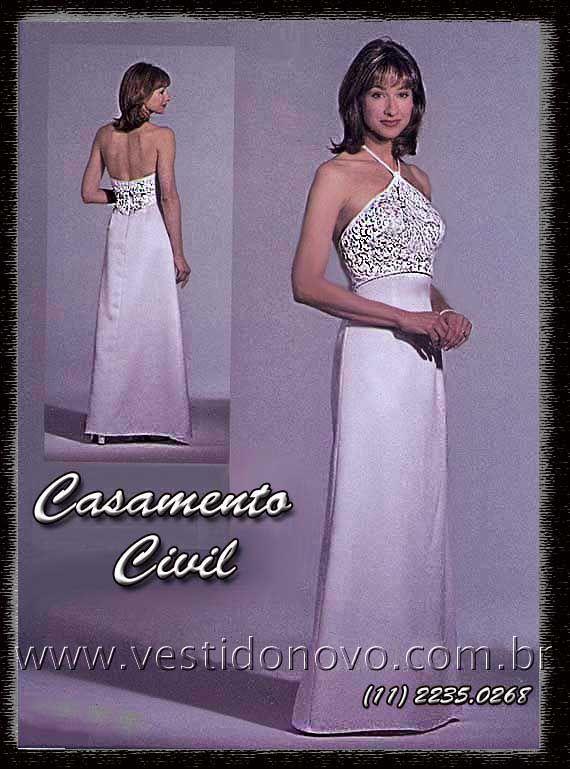 586be507c vestido branco casamento civil, salão, praia ou campo CASA DO VESTIDO NOVO  www.