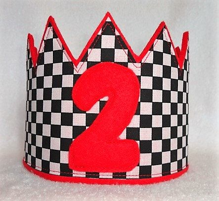 Birthday Crown, Boys Birthday Hat, Felt Birthday Crown, Cars Birthday Crown, Kids Birthday Crown, Race Car Birthday Crown, Birthday Hat by MnMExtras on Etsy https://www.etsy.com/listing/483847160/birthday-crown-boys-birthday-hat-felt
