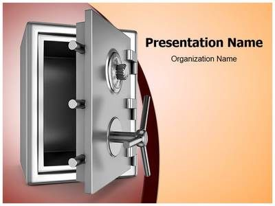 security metal safe powerpoint template is one of the best powerpoint templates by editabletemplatescom