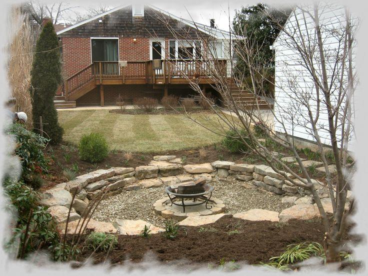Rustic sunken fire pit area backyard oasis pinterest Sunken fire pit ideas