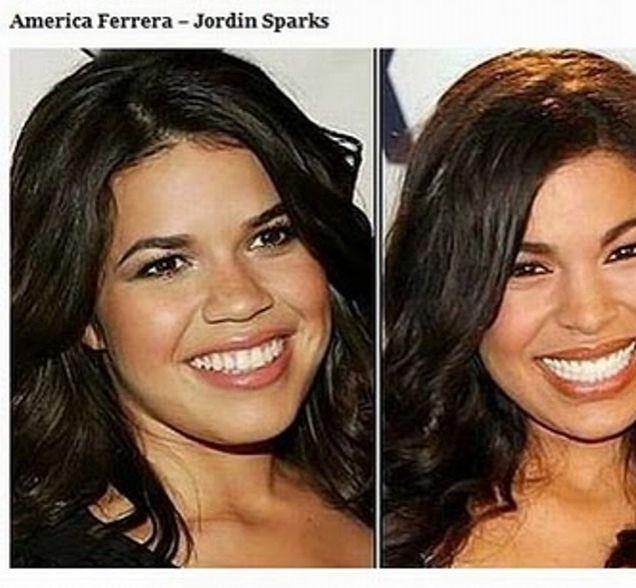 Hollywood Lollipop - Celebrities Look Alike (23 Photos) Jordan Sparks and America Ferrera
