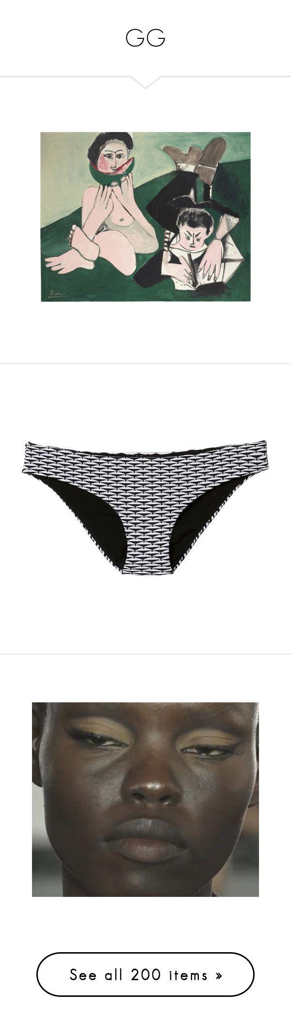 """GG"" by the-lonely-wallflower ❤ liked on Polyvore featuring swimwear, bikinis, bikini bottoms, multi, bikini bottom swimwear, swim bikini bottoms, lily swimwear, nylon swimwear, bottom bikini and shoes"