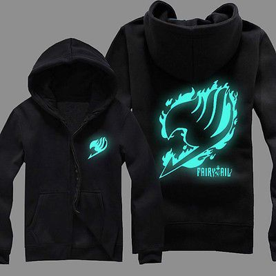 NEW-Anime-Fairy-Tail-Guild-Logo-Luminous-Unisex-Jacket-Hoodie-Black-Coat-Tops