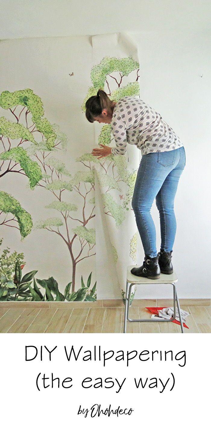 How To Wallpaper The Easy Way Diy Home Repair Diy Home