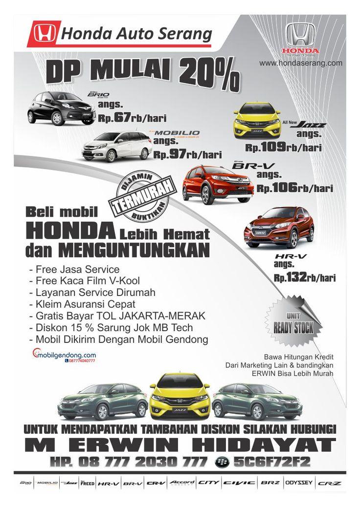 Dealer Honda Auto Serang | M. Erwin Hidayat: Promo Spesial Bulan Ini