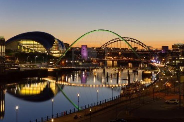 Tyne bridges at twilight
