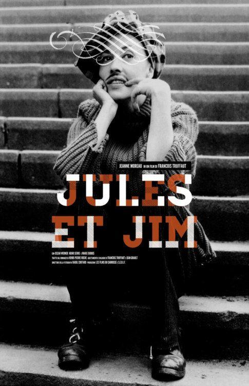 """A poster for """"Jules et Jim"""" (Francois Truffaut, 1962)."""